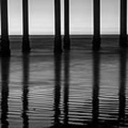 Pier Reflections Art Print