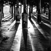 Pier Shadows Art Print