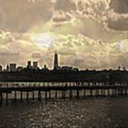 Pier View 1 Art Print