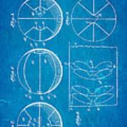 Pierce Basketball Patent Art 1929 Blueprint Art Print
