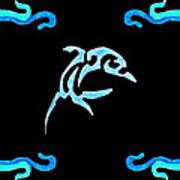 Pierced Dolphin Art Print