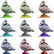 Pigeon Pop Art 5516 - Fs - Wb - M-  Modern Animal Artist James A Art Print