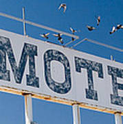 Pigeon Roost Motel Sign Art Print