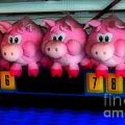 Piggy Race Art Print