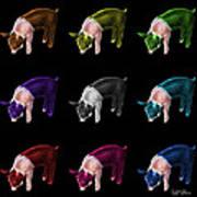 Piglet Pop Art - 0878 Fs - M - Bb Art Print