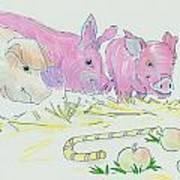 Pigs Cartoon Art Print