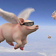Pigs Fly 1 Art Print by Mike McGlothlen