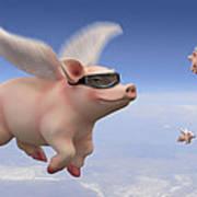 Pigs Fly Art Print