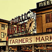 Pike Place Market - Seattle Washington Art Print