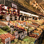 Pike Place Veggies Art Print