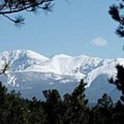 Pikes Peak After A Snowstorm Art Print
