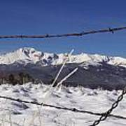 Pikes Peak Through The Fence Art Print