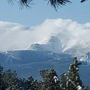 Pikes Peak Under The Clouds Art Print