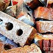 Pile Of Bricks Art Print