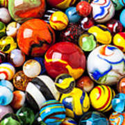 Pile Of Marbles Art Print
