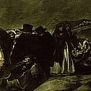Pilgrimage To San Isidros Fountain, C.18213 Oil On Canvas Art Print