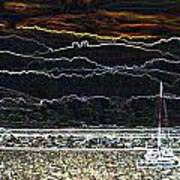 Pillar Point Harbor Below Half Moon Bay Hills Art Print