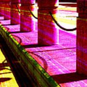 Pillars And Chains - Color Rays Art Print