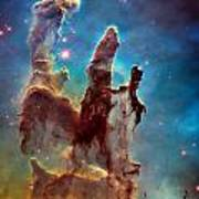 Pillars Of Creation In High Definition Cropped Art Print