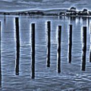 pillars on the Bay Art Print
