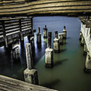 Pillars Over Pier 39 Waters... Art Print