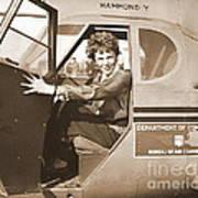 Pilot Amelia Earhart 1936 Art Print