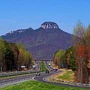 Pilot Mountain From Overlook Art Print