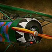 Pilot - Plane - German Ww1 Fighter - Fokker D Viii Art Print by Mike Savad