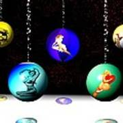 Pin Up Ornaments Art Print