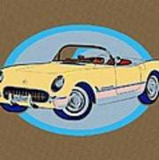 Pin Up Vette Art Print