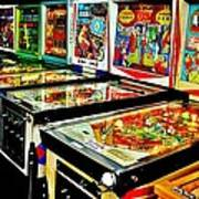 Pinball Alley Art Print by Benjamin Yeager