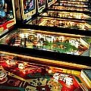 Pinball Arcade Art Print by Benjamin Yeager