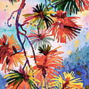 Pine Needle Fireworks Art Print