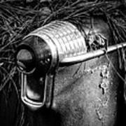 Pine Needles On Tail Light In Black And White Art Print