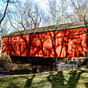 Pine Valley Covered Bridge In Bucks County Pa Art Print
