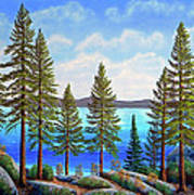 Pine Woods Lake Tahoe Art Print