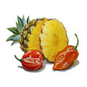 Pineapple Habanero Muy Caliente   Art Print