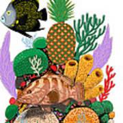 Pineapple Reef Art Print