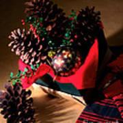 Pinecones Christmasbox Art Print