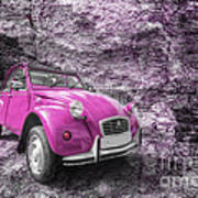 Pink 2cv  Art Print