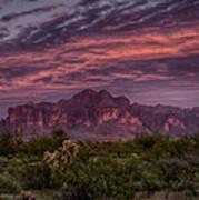 Pink And Purple Desert Skies  Art Print