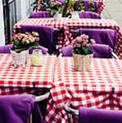 Pink And Purple Dining Art Print