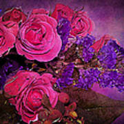 Pink And Purple Floral Bouquet Art Print
