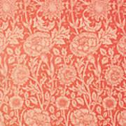 Pink And Rose Wallpaper Design Art Print