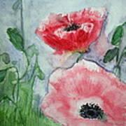 Pink Anemones Art Print