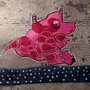 Pink Beastie Art Print