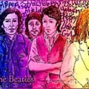 Pink Beatles From Rainbow Series Art Print