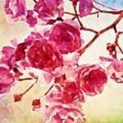 Pink Blossom - Watercolor Edition Art Print