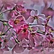 Pink Blossoms - Paint Art Print