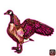 Pink Canada Goose Pop Art - 7585 - Wb Art Print